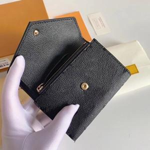 Femmes Luxurys Hommes Designers Femmes Fashion Fashion Portefeuille Sacs Sacs Pourse Porte-cartes Tote Bagasin Portefeuilles Zippy Coin Porte-monnaie