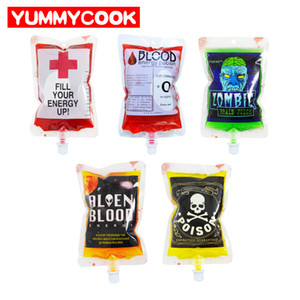 Decoration Halloween 20Pcs Vampire Zombie Blood Bags Reusable Juice Drink Pouch Party DIY Decorations Accessories Supplies Stuff