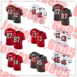 football 12 Tom Brady TampanflBayBuccaneers 87 Rob Gronkowski 14 Chris Godwin 45 Devin White 13 Mike Evans Stitched jerseys