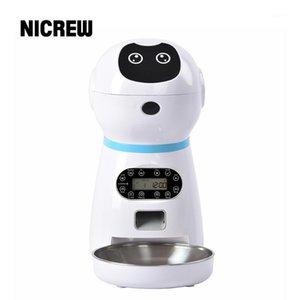 Nicrew Automatic Dog Cat Feeder Dispenser Pet Auto Feeder Hund Katze Trinkschale Sprache Aufnahme LCD-Bildschirm Dry Bowls1
