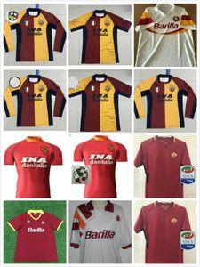 00 01 02 90 91 92 94 95 96 Retro Roma 2017 2018 Fußball Trikots TOTTI DE ROSSI DZEKO Nainggolan 17/18 Retro-Fußballhemd S-2XL