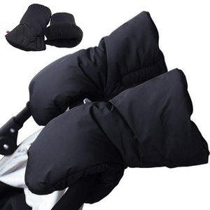 Winter pram hand muff baby carriage pushchair warm Fur Fleece hand cover by Clutch Cart Muff Glove stroller accessories 201022