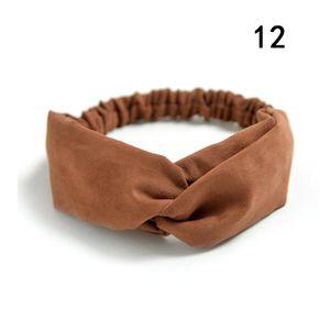 Gamuza gamuza turbante mujer banda de pelo arcos elástico headkerchief deporte hairbands cabeza banda nudo diadema para niñas headwear headwrap q jlljqw