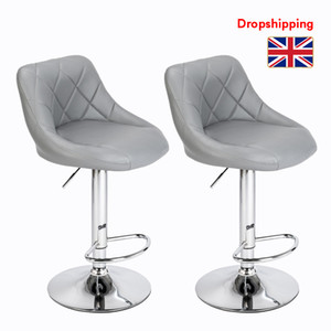 Stock in UK Swivel Stool Plastic Feet Rotation Backrest Design Bar Stools Adjustable with Disk Dropshipping