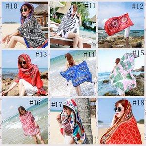 36style étnico bufanda mantón de las mujeres de lino de algodón Toalla étnico Mar Alquiler de vacaciones Protector solar bufanda de seda de la toalla de playa de Bohemia 180 * 100cm GGA3758-4