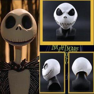 2019 The Nightmare Before Cosplay di Natale Jack Skellington costume Puntelli Skull Helmet Halloween Party Mask accessori