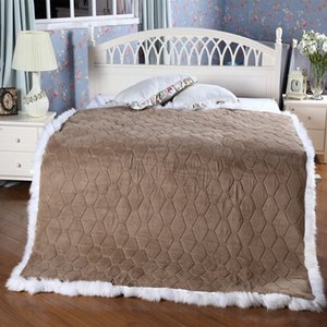 Wholesale-Pure wool mattress Australian sheepskin bed plate True fur one A single double bed upset the student's dormitory 2F2h#