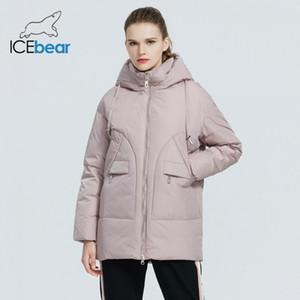 ICEBEAR Mode hiver Veste femme vêtements Parkas de Hooded Femme Marque Vêtements GWD19610I 201014
