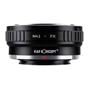 KF Concept M42 EOS EF EF-S NIK F FD AI Minolta AF d'objectif de caméra pour FX Fuji X adaptateur de montage pour le corps Fuji DSLR