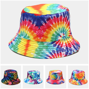 Foldable Bucket Hat Mens Womens Summer Packable3D Printing Beach Brim Hats Sports Fishing Cap Solid Color Sun Vsiors