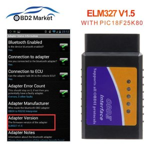 elm 327 V1.5 Bluetooth OBD2 diagnostic tool with PIC18F25K80 car diagnostic for Android phone PK elm327 V2.1 obd2 scanner