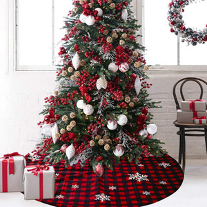 Christmas ornaments carpet Christmas lattice snowflake Tree Skirt creative new tree bottom decoration atmosphere layout 118CM