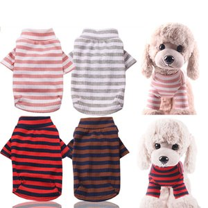 Pet T Shirts Fall Summer Striped Dog Cloth Fashion Top Shirts Vest Cotton Clothes Dog Puppy Small Dog Clothes Pet Apparel