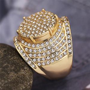 2021 Модное качество Услуга из нержавеющей стали для мужского мужского кольца 18K Золотая полумена