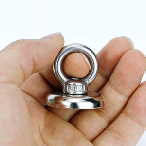 Hooks & Rails Neodymium Magnet Super Strong Powerful Salvage Hook Fishing Magnetic Circular FO Sale1