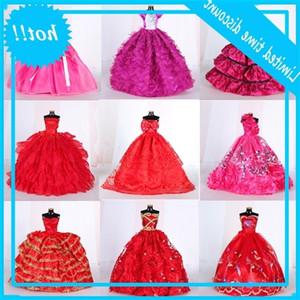 1 STÜCKE Puppen BJD Tuch Rote Prinzessin Mode Hochzeit Party Für Puppe Zubehör Dress Up Spielzeug 29cm