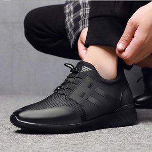 Herren Sneakers Qualität 6cm Erhöhung britische Schuhe New Breathable Sommer-beiläufige Turnschuhe Big Size Büro Schuhe Herren 48 201012