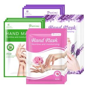 Lavender Rose Mask Nourishing Whitening Smooth Care Paraffin Peel Moisturizing Anti Dry Hydrating Hand Gloves