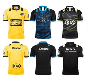 Rugby 19 2018 Hurricanes Bil Tour Rugby Jersey 16 Top Tailândia Qualidade Rugby Wellington Home and Away Camisas Frete Grátis Camiseta Esporte