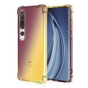 Coussin d'air dégradé coloré Transparent Pour Xiaomi MI10 10lite Note 10 Lite Mi 9 SE Pro 9T CC9 Pro E 8 Lite souple TPU couverture anti-choc