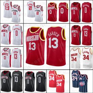 NCAA 13 James HoustonFusée 0 Russell Harden 34 Hakeem Westbrook Olajuwon Hommes Enfants Basketball Jerseys