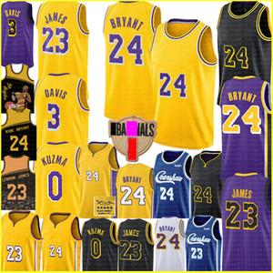 Мужской LeBron 23 Джеймс 2 4 Bryant Джерси NCAA Anthony 3 Davis Kyle 0 Кузьма Джерси университет Лос-АнджелесЛейкерсбаскетбольное