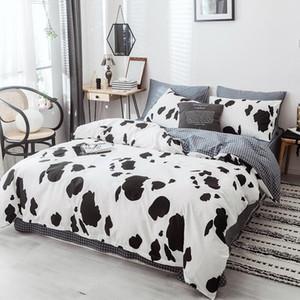 Cow Bedding Sets 4 Pcs Flat Bedspread Duvet Case Pillowcases 3 4 Pcs Adult Children Use Bed linen Twin King Queen