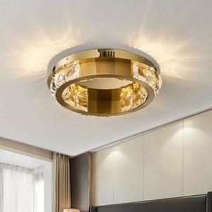 الحديثة الثريا الكريستال أدى لسقف المعيشة غرفة الطعام الكريستال مصباح cricle الفولاذ المقاوم للصدأ الإضاءة كريستال بريق اعبا اساسيا