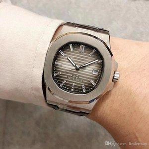 U1 fábrica automática Movimiento 40 años Edición limitada 5711 de cristal de la marcación banda de cuero reloj masculino de Shiping Waa