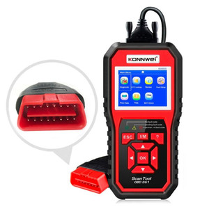 OBD2 Automotive Scanner KW850 OBD II Full Function Car Code Reader Diagnostic Tool Check Engine Battery Voltage Update Free