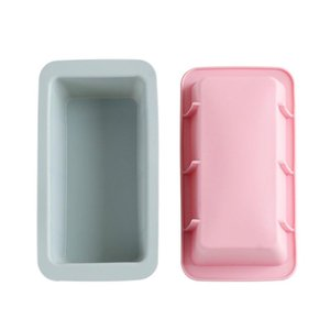 NEW 6 PCS Cake Silicone Toast Bread Mold Rectangular Ice Tray Mold