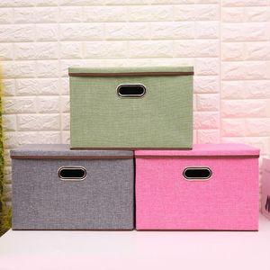 Хозяйственные товары ящик для хранения хлопка линии большой складной коробки хранения оптовые индивидуальные нетканые бункеров Cube корзины Контейнеры OWE412