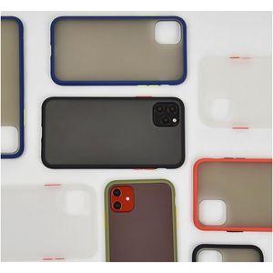 Mint Simple Matte Bumper Phone Case For Iphone 12 11 Pro Xs Max Se 8 7 Plus Shockproof Soft T bbybMF yhshop2010