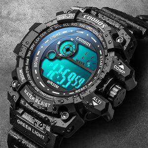 Cool Luminous Men Sport High-end Silicone Strap Military Wrist Led Calendar Waterproof Digital Watch reloj de hombre