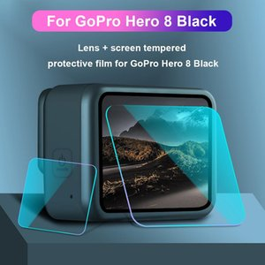 HD Tempered Glass Film for HERO8 Camera Lens Screen Protector Film Dust-proof Protective Sports Video Cameras Action Films