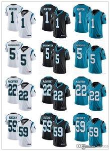 Jóvenes para mujerCarolinaPantalón1 Cam Newton 22 Christian McCaffrey 59 Luke Kuechly 5 Teddy Bridgewater Football Jerseys