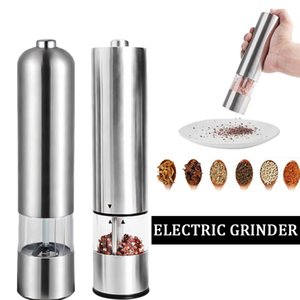 2020 Electric Pepper Grinder Mill Salt Pepper Grinding Unit Spice Grinding Kitchen BBQ Tools Automatic One-handed Pepper Shake