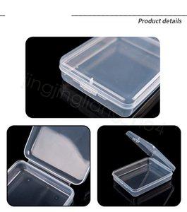 Мини Clear Mask Коробка для хранения Прозрачный квадратные Пластиковые ящики для лица Маска Puff Ложные Ресницы карты Пустые коробки красоты Упаковка Box FFA4526C