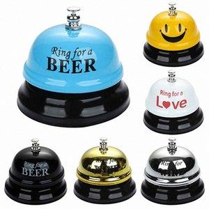 1 unids New Desk Kitchen Hotel Contador Recepción 75x60mm Navidad Craft Cat Bell Bell Bar Bar Ringer Call Bell Service Ring 79AA #