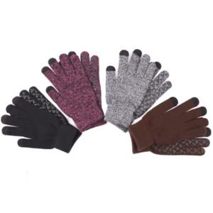 guanti caldi maglia per i ragazzi e le ragazze inverno in più guanti di lana di scorrimento touch screen spessore non invernali Guanti sci T3I51411