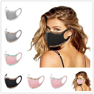 Fashion Bling Glitter Face Mask Solid Color Protective Masks Washable Reusable Earloop Mouth Cycling Dustproof Party Club Mask Cover F1 Isvw