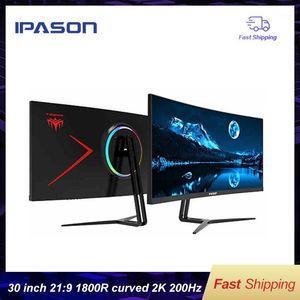 IPASON مراقب الألعاب QR302W 30-inch 2K / ارتفاع معدل العرض 200Hz العرض عريضة 21: 9 مع ps4 e-sports / desktop1