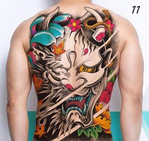 Zurück mann wasserdicht tattoo wasser b3 flash aufkleber tattoos transfer 48x34cm temporäre chinesische gott tattoo männer für fake c18122801 sqcsj