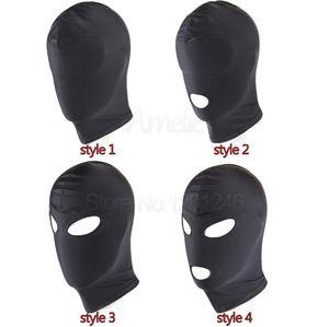 Black Sex Toys Offene Fetisch Mouth Hood Frau Bondage Maske, Fessel Sex Hood Maske verworrene Sexy SM Sex Mask Für Slave Mann Paare C18112701 Fpeh