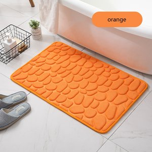 Memory Foam Bathroom Rug 50*80cm Thick Super Water Absorption Machine Washable Soft Comfortable Floor Bath Mat GWA3573