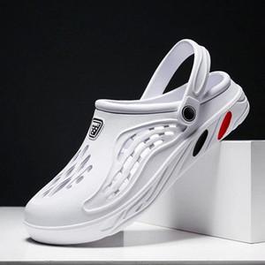Men Sandals Hole Shoes summer Clogs Sandals For Men EVA men Slipper Hole Garden Shoes Crocse Adulto Cholas Hombre #JK9z