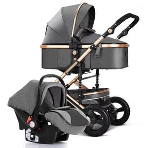 Baby Stroller 3 em 1, carrinhos de bebê quatro rodas bebê carrinho, carrinho de bebê, kinderwagen, buggy de luxo, carrinho recém-nascido, paisagem alta1
