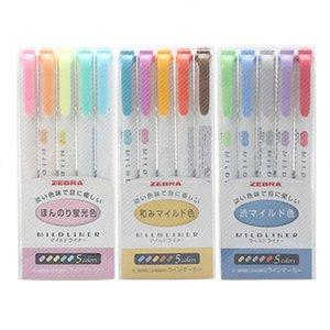 زيبرا مادلينر بطانة مزدوجة برأسين تمييز القلم هوك القلم لطيف فن علامة القلم زيبرا مادلينر اليابانية القرطاسية لوازم الفن