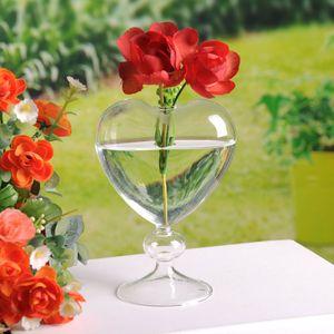 Vasos de vidro vasos plantador vaso de vidro de vidro em pé casa decoração flor vaso desktop vaso decorativo decoração festa de casamento