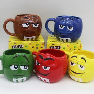 Creative 600ml m&m Beans Coffee Mugs Tea Cups and Mugs Cartoon Cute Expression Mark Large Capacity Drinkware Christmas Gifts